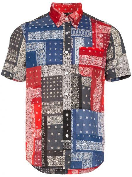 Рубашка с короткими рукавами пэчворк на пуговицах Sophnet.