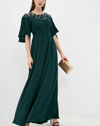 Зеленое вечернее платье Seam
