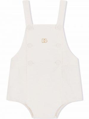 Biały body bez rękawów Dolce & Gabbana Kids