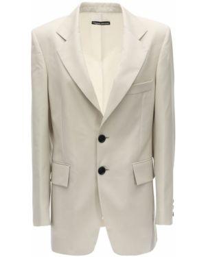 Шерстяная бежевая куртка с карманами Kwaidan Editions