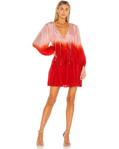 Шелковое красное платье мини с подкладкой Karina Grimaldi