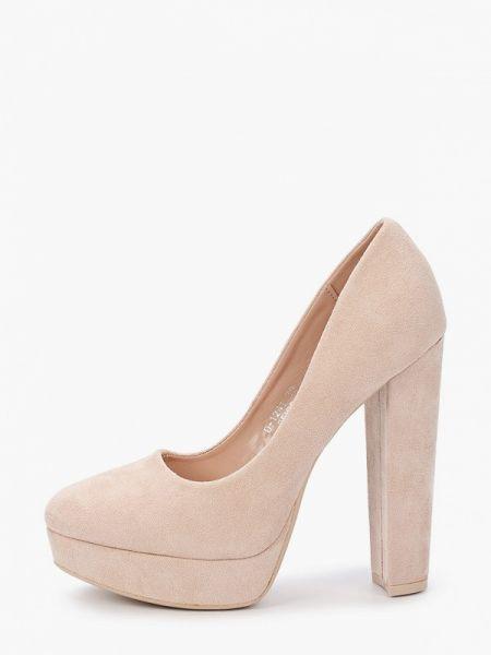 Замшевые туфли бежевый закрытые Ideal Shoes®