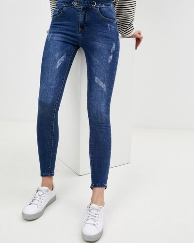 Синие джинсы-скинни узкого кроя Adrixx