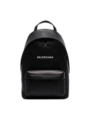 Czarny plecak skórzany vintage Balenciaga