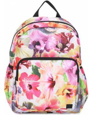 Różowy plecak z nylonu z printem Molo
