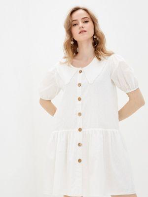 Прямое белое платье А-силуэта Incity