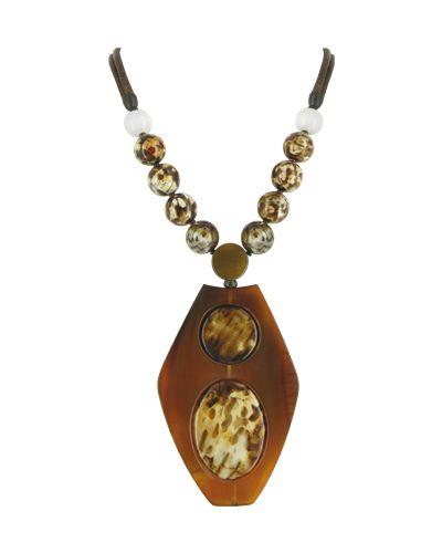 Коричневое ожерелье Nature Bijoux