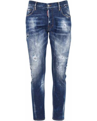 Niebieski jeansy rozciągać rowerzysta Dsquared2