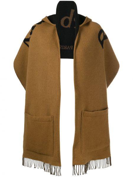 С рукавами кашемировый шарф с капюшоном Burberry