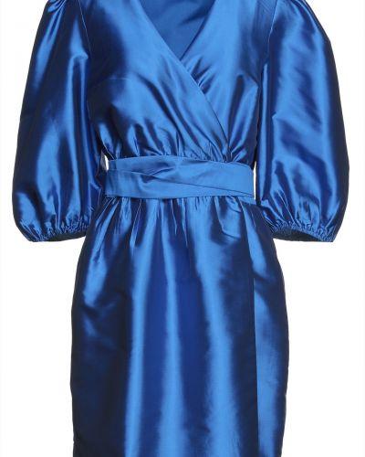 Платье мини атласное - синее Gestuz