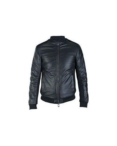 Черная кожаная куртка Armani Jeans