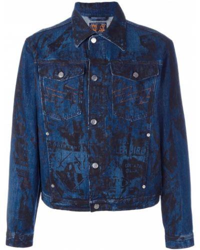 Синяя джинсовая куртка винтажная с манжетами прозрачная Walter Van Beirendonck Pre-owned