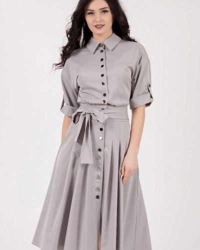 Повседневное платье серое Grey Cat