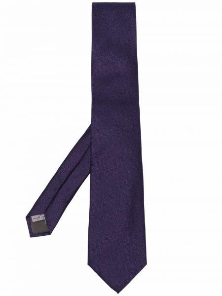 Krawat z printem - fioletowy Canali
