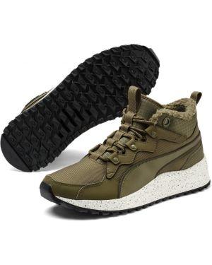 Оливковые текстильные трекинговые кроссовки беговые для бега Puma