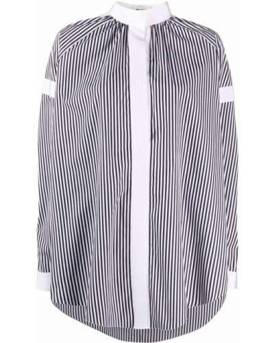 Черная блузка с воротником с вырезом Maison Rabih Kayrouz
