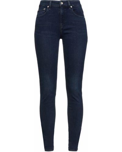Джинсовые зауженные джинсы - синие Rag & Bone