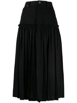 С завышенной талией юбка миди в рубчик на молнии с поясом Y`s