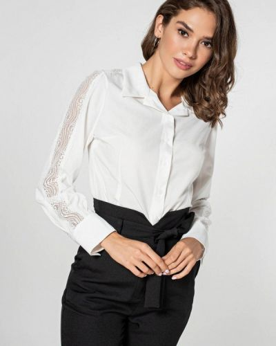Блузка с длинным рукавом белая Itelle