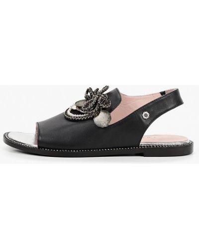 Черные кожаные сандалии Tuffoni