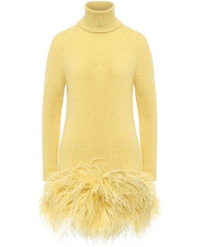 Платье вязаное с перьями No. 21