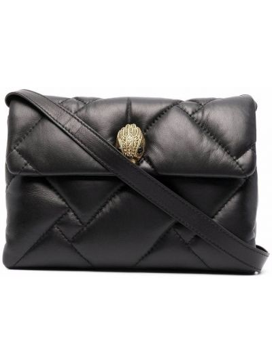 Кожаная сумка через плечо - черная Kurt Geiger London
