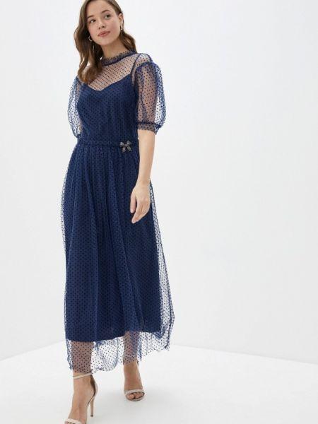 Синее вечернее платье Vera Moni
