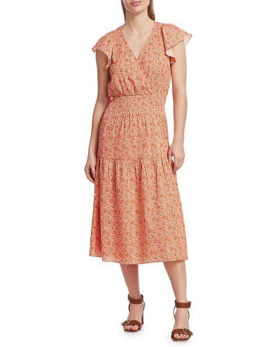 Красное хлопковое платье Parker