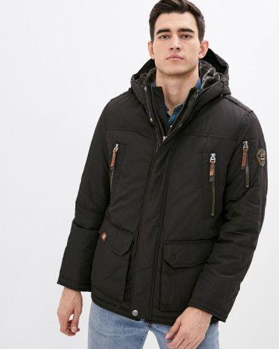 Коричневая утепленная куртка Vizani