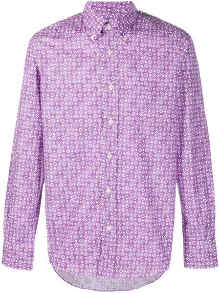 Koszula z długim rękawem klasyczna fioletowy Canali