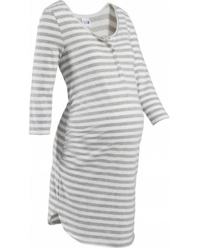 Хлопковая ночнушка для беременных с длинными рукавами Bonprix