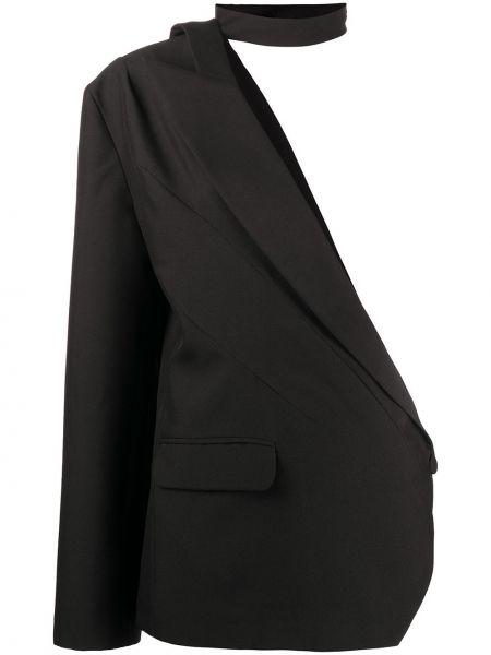 Черный пиджак на одно плечо на пуговицах Loulou