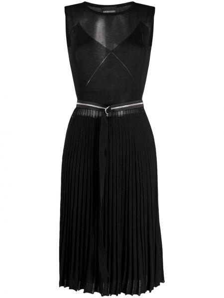 Платье миди с прозрачными рукавами плиссированное Ermanno Ermanno