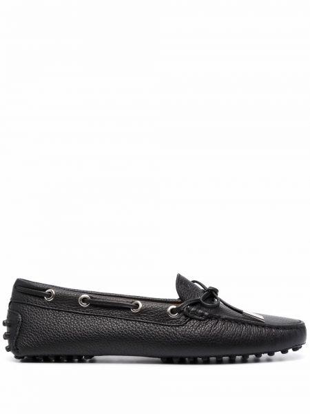 Черные кожаные туфли Tods