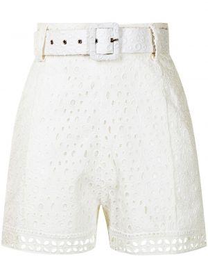 Хлопковые шорты - белые Charo Ruiz Ibiza