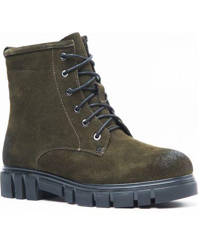 Ботинки зеленые замшевые Vensi