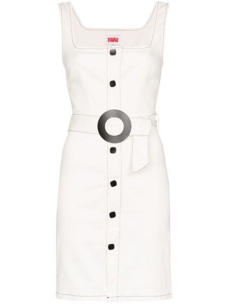Джинсовое платье в полоску на пуговицах Solid & Striped