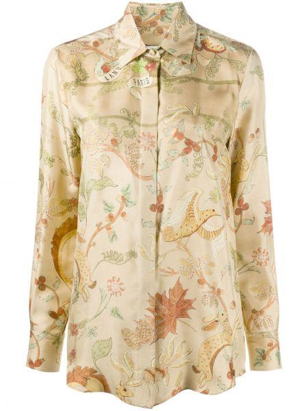 Шелковая классическая рубашка с воротником с длинными рукавами Lanvin