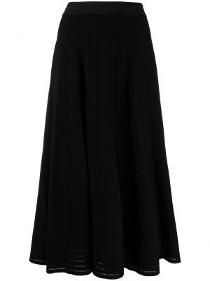 Черная с завышенной талией плиссированная юбка Karl Lagerfeld