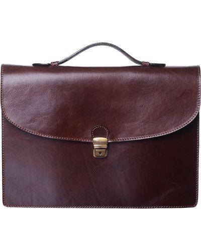 Портфель текстильный коричневый Tigamaro