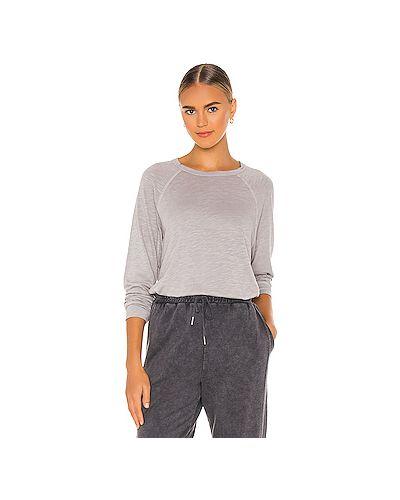 Хлопковый серый свитер Michael Lauren