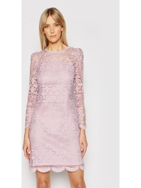 Fioletowa sukienka koktajlowa Luisa Spagnoli