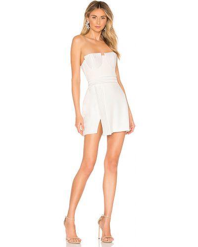Biała sukienka wieczorowa pikowana Zhivago