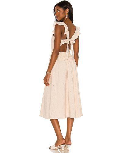 Beżowa sukienka bawełniana Cleobella