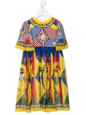 Sukienka krótki rękaw Dolce & Gabbana Kids