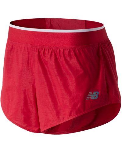 Красная юбка мини с поясом New Balance