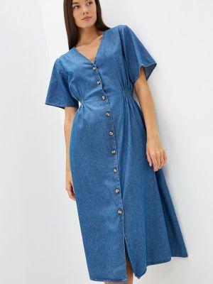 Синее джинсовое платье Selected Femme