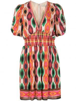 Платье мини с принтом с потайной застежкой с вырезом Alice+olivia