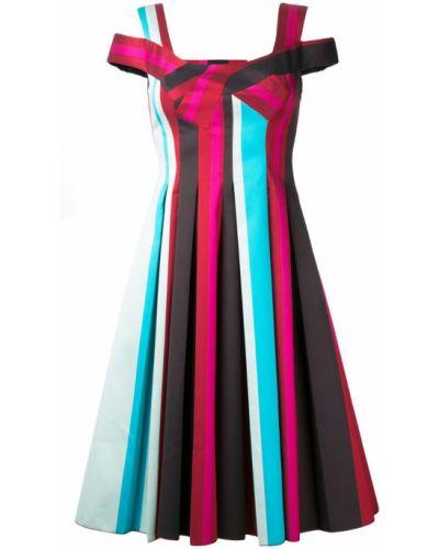 Платье макси в полоску плиссированное Paule Ka