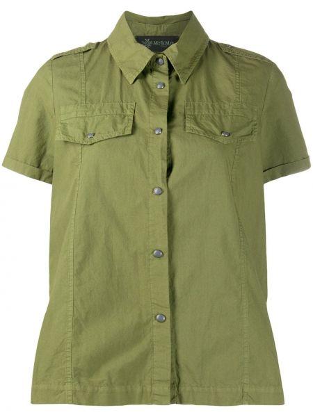 Хлопковая классическая рубашка с вышивкой с воротником на пуговицах Mr & Mrs Italy